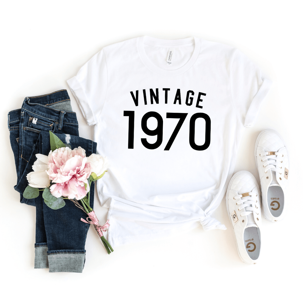 50th Birthday Gift For Women  Men, 50th Birthday Shirt , Vintage 1970 T-Shirt, 50th Birthday Gift ideas