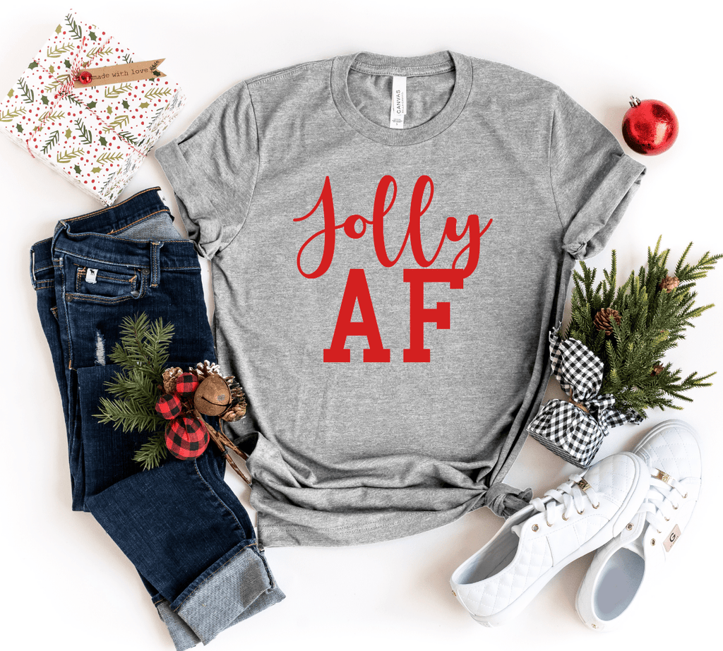 Christmas Family Shirts, Christmas Coordinating Shirt, Christmas Group Shirts,Funny Christmas Shirts, Jolly AF, Merry AF, Festive AF, Christmas Party Shirts - Funkyappareltees