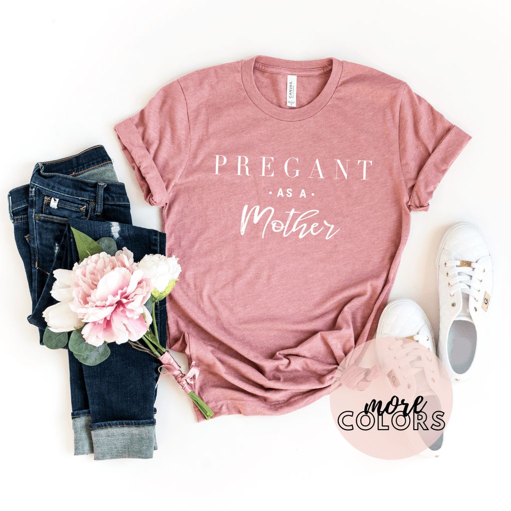 Pregnancy Announcement Shirt, Mama In The Making, Pregnant Shirt, Pregnancy Reveal Shirt, New Mom Shirt, Pregnant As A Mother Af, Expecting Shirt - Funkyappareltees