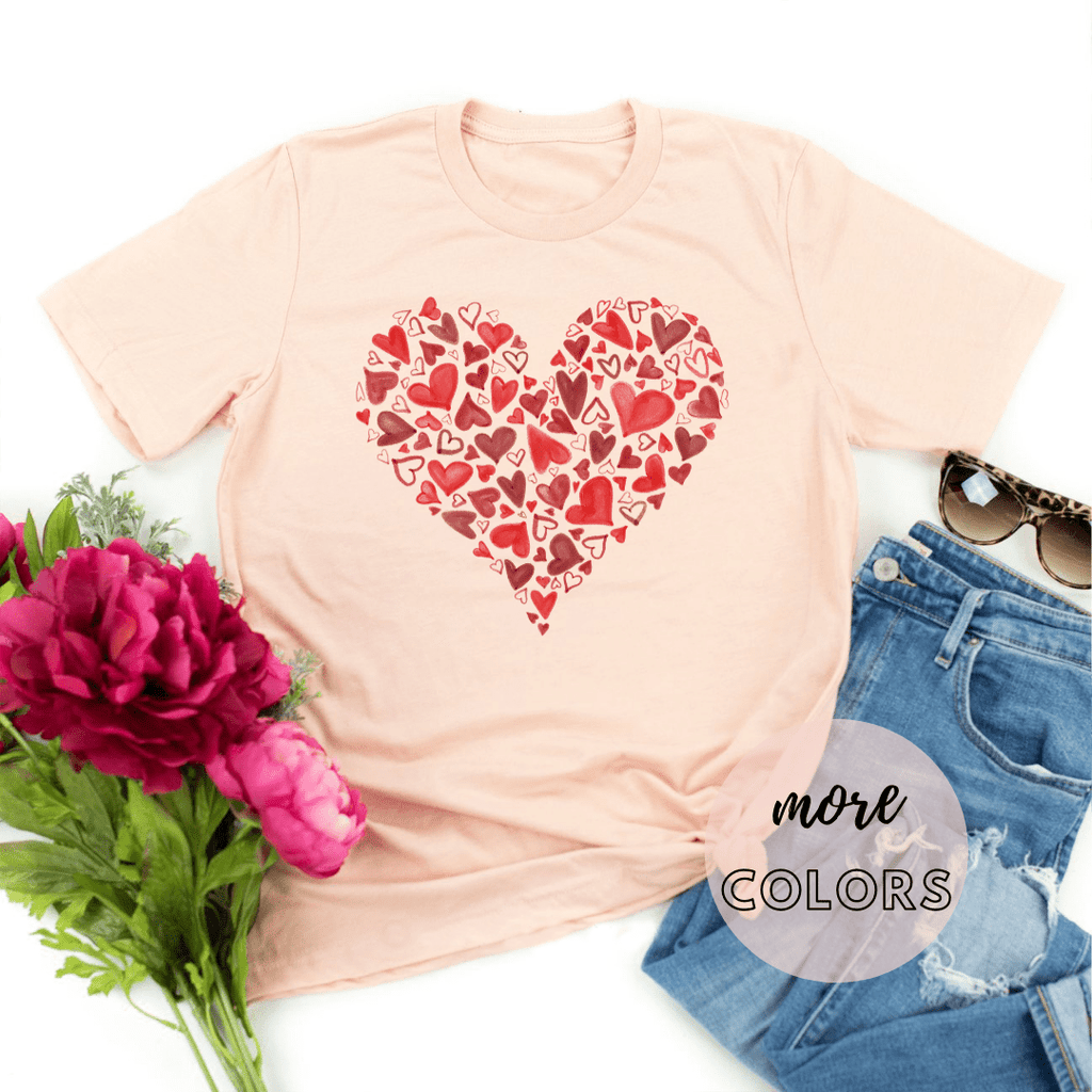 Red Heart Valentines Day Gift Shirt, Valentines Gifts for him her girlfriend, Valentines Day - Funkyappareltees