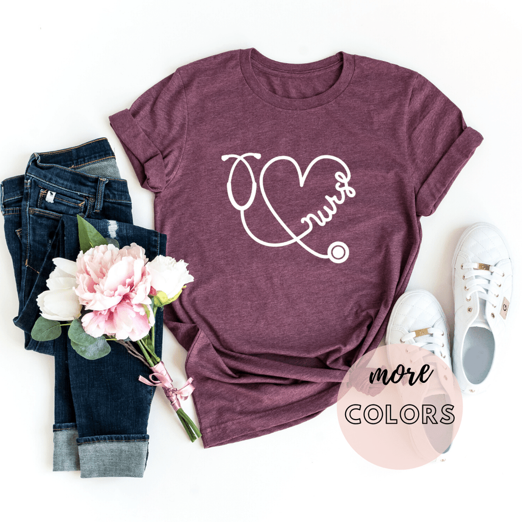 Nurse Shirts, Nursing Shirts, Heart Shirt, Nursing School Shirt - Funkyappareltees