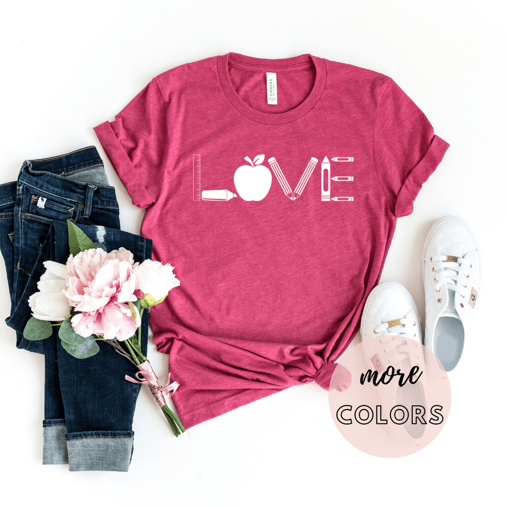 Love Teacher Shirts, Teacher Life Gifts Shirt, Teacher Appreciation Shirt Gifts, Preschool Teacher, Elementary Teacher Gift - Funkyappareltees