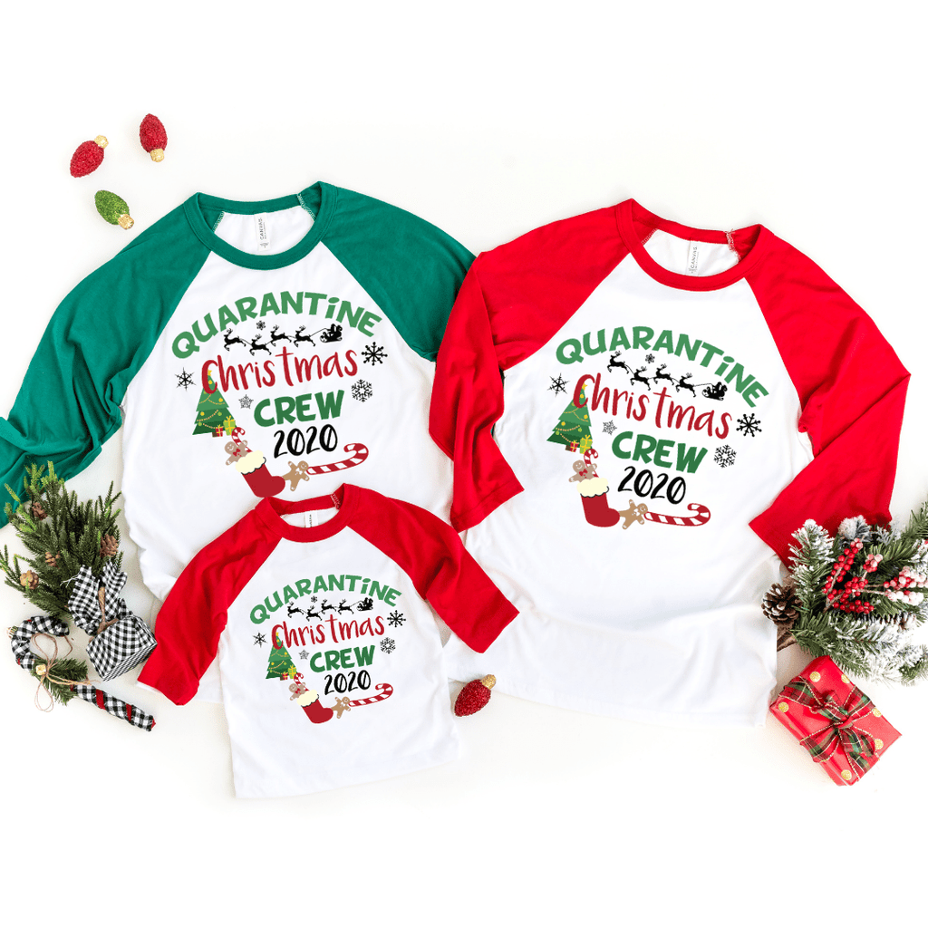 Christmas Crew Shirts, Family Christmas Raglan Shirts