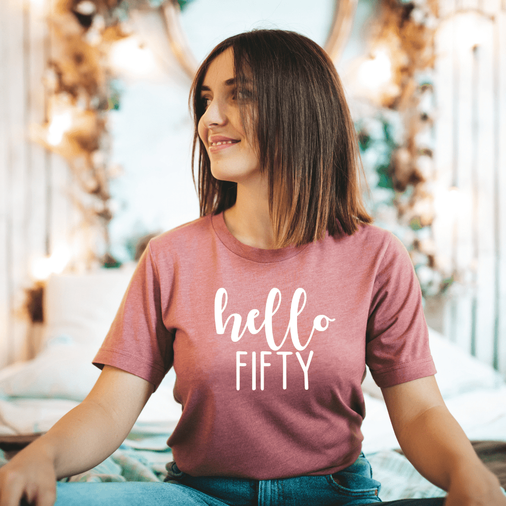 50th Birthday Shirts Gift For Women Men, Hello Fifty Shirt