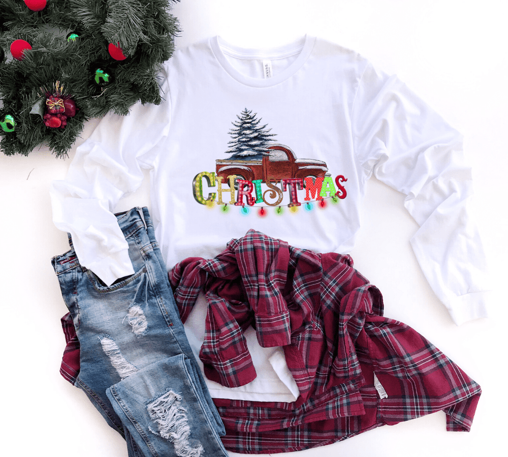 Christmas Lights Long Sleeve T-Shirt
