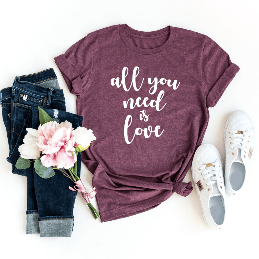 All you need is love, Valentines Day Gift Shirt, Valentines Gifts for him her girlfriend, Valentines Day - Funkyappareltees