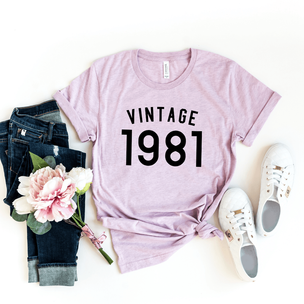 39th Birthday Shirt Ideas Vintage 1981 Birthday Shirt - Funkyappareltees