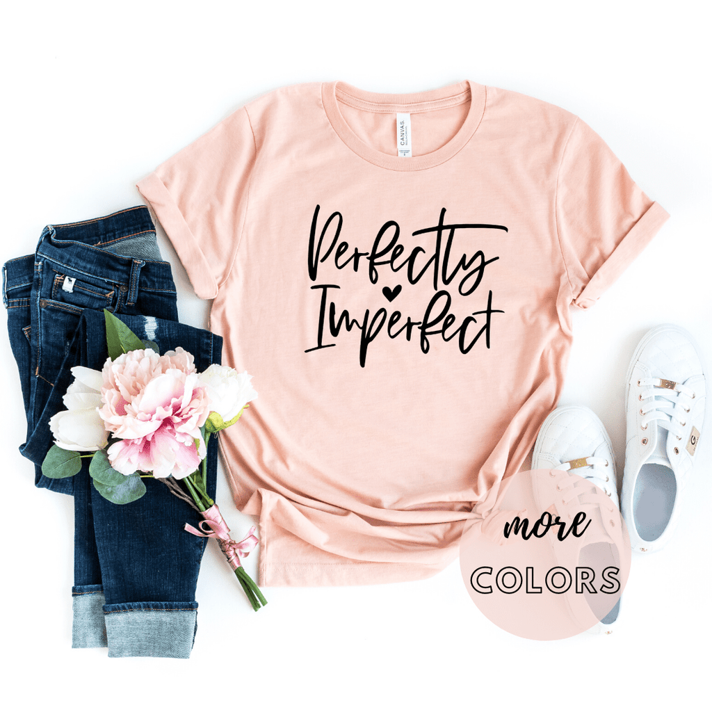 Perfectly Imperfect Christian Shirt, Christianity T shirts Clothing, Jesus T Shirts, Religious Shirts for Women - Funkyappareltees