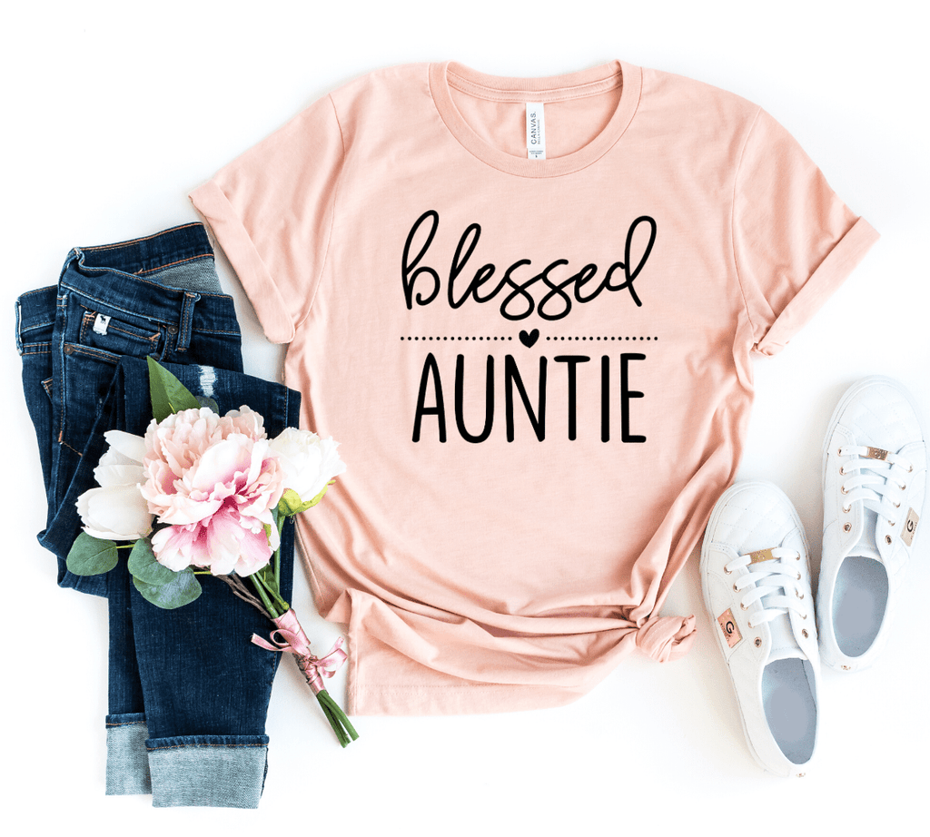Blessed Auntie Shirt, Christmas Gift for Aunt, Favorite Aunt, BAE Best Aunt Ever Shirt, Aunt Shirt, New Aunt, Aunt Christmas Gift, Gift for Sister - Funkyappareltees