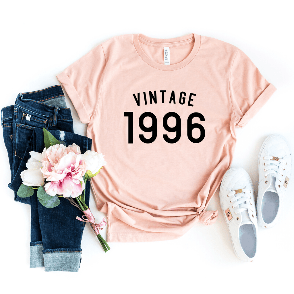 Vintage 1996 Shirt, 24th Birthday Gift For Women  Men Shirt