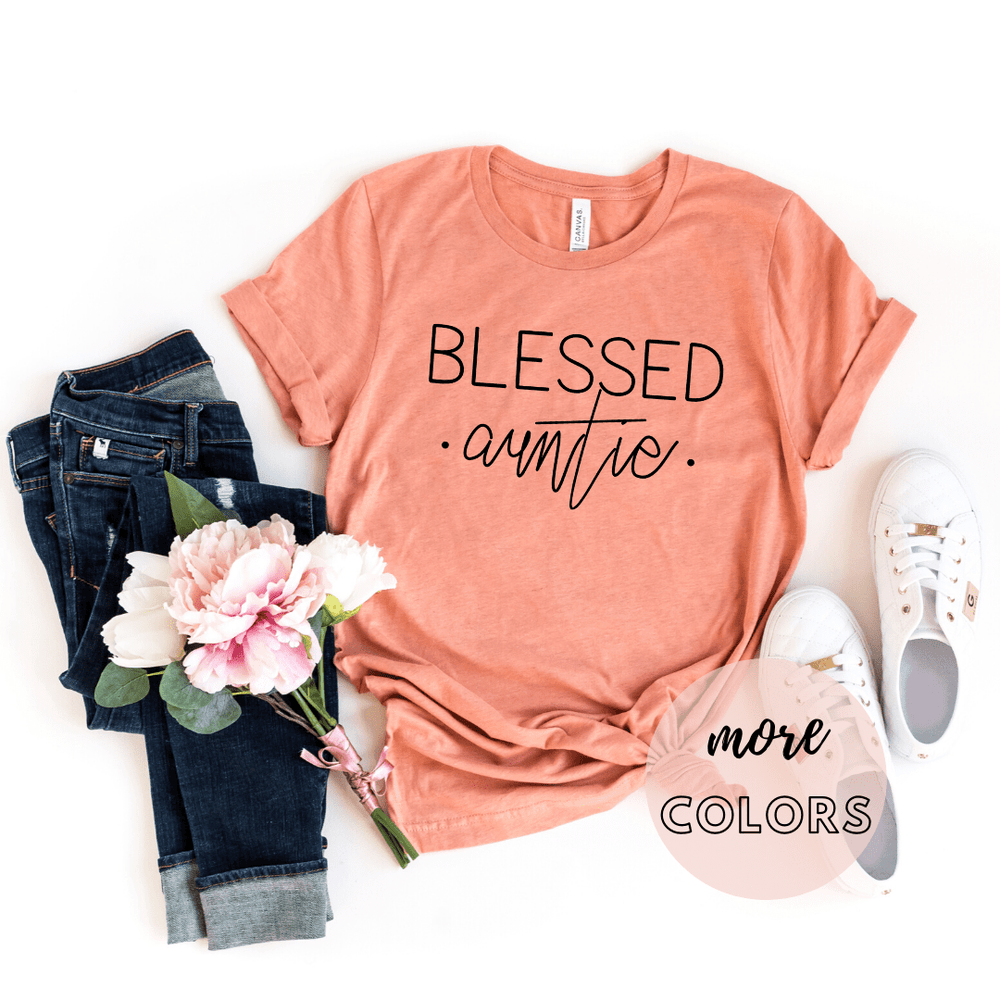 Blessed Auntie Shirt, Pregnancy Announcement Shirt, Aunt to Be Shirt, Gift for Auntie,  Promoted to Aunt, Aunt Life Shirt - Funkyappareltees