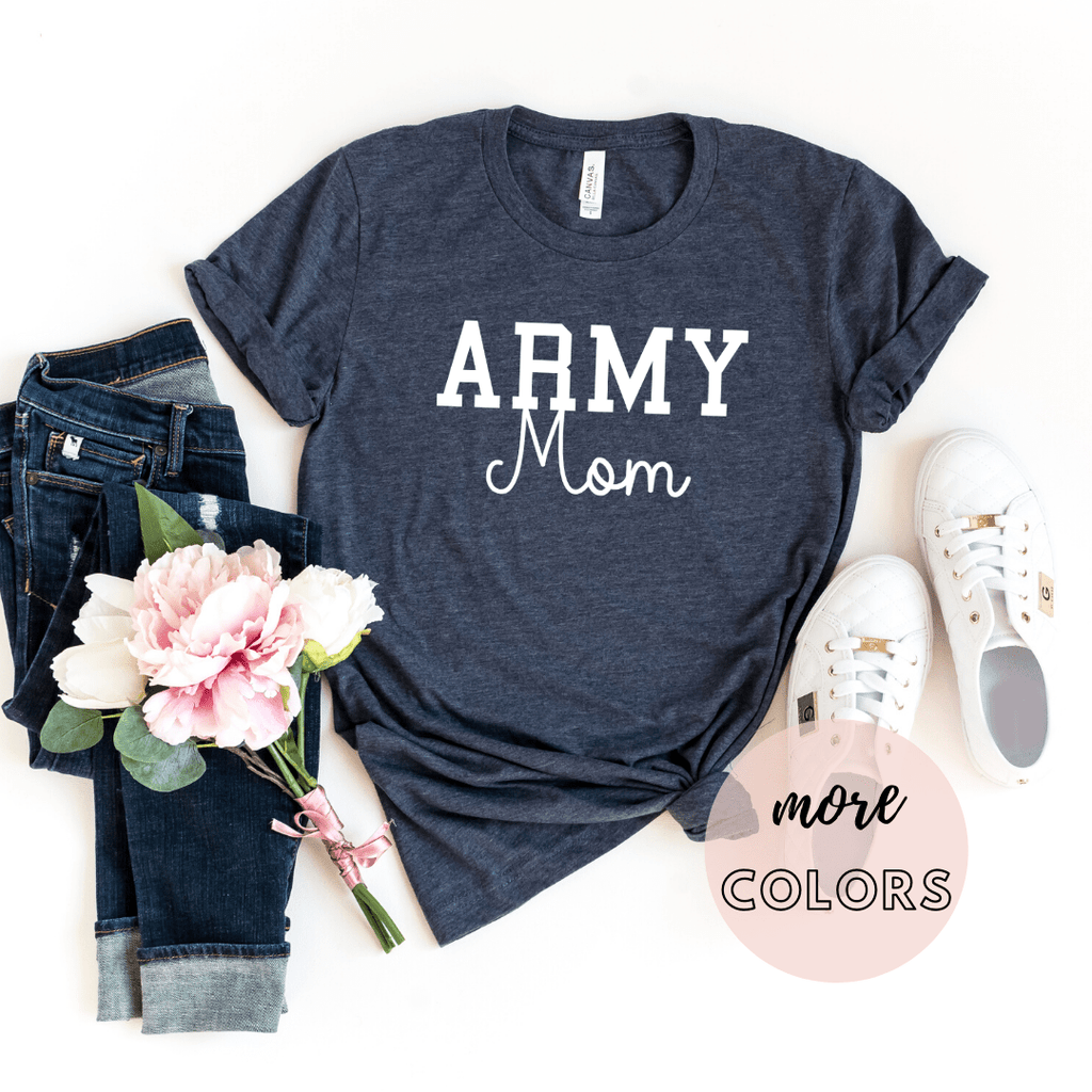 Army Mom Shirt, Military Mom Shirt, Mothers Day Gift, Army Mom Tee, Navy Mom Shirt, Marine Mom, Gift for Mom, Enlistment - Funkyappareltees