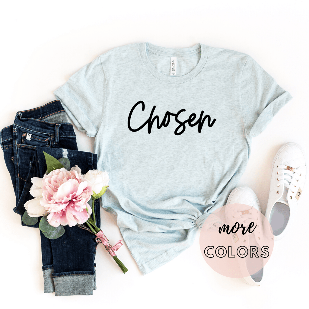 Chosen Christian Shirt, Christianity T shirts Clothing, Jesus T Shirts, Religious Shirts for Women - Funkyappareltees