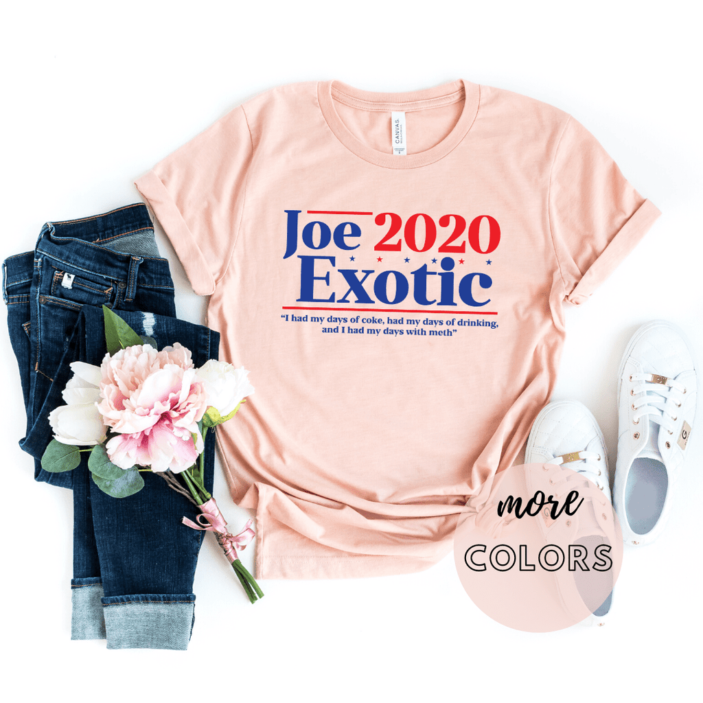 Joe Exotic, Tiger King That Bitch Carole Baskin Novelty T-Shirt, Joe Exotic 2020, Joe Exotic For President - Funkyappareltees