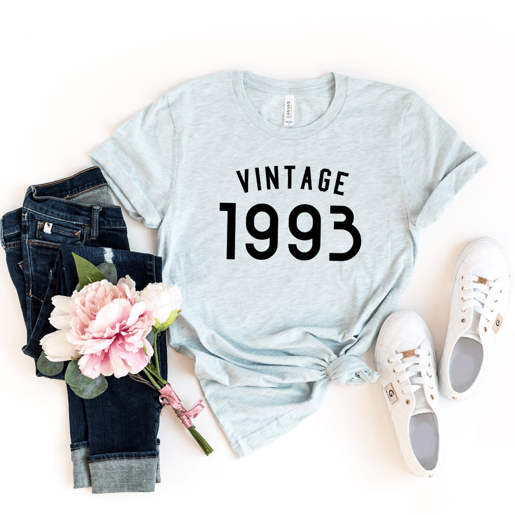 Vintage 1993 Shirt, 27th Birthday Gift For Women  Men Shirt