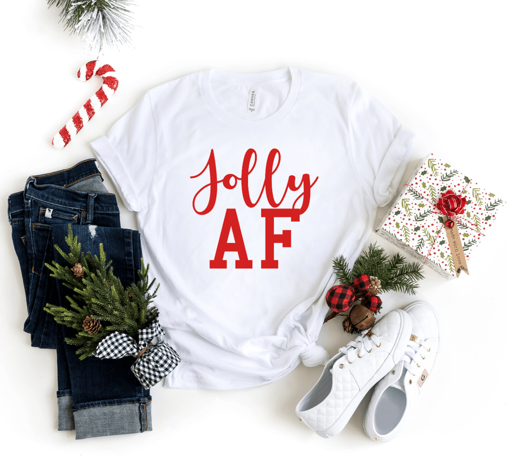 Christmas Family Shirts, Christmas Coordinating Shirt, Christmas Group Shirts,Funny Christmas Shirts, Jolly AF, Merry AF, Festive AF, Christmas Party Shirts