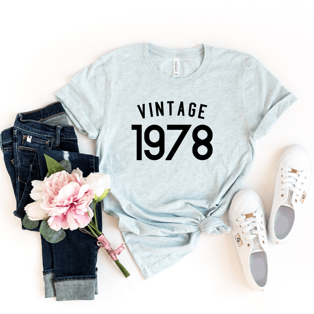 Vintage 1978 Shirt, 43rd Birthday Gift For Women  Men Shirt