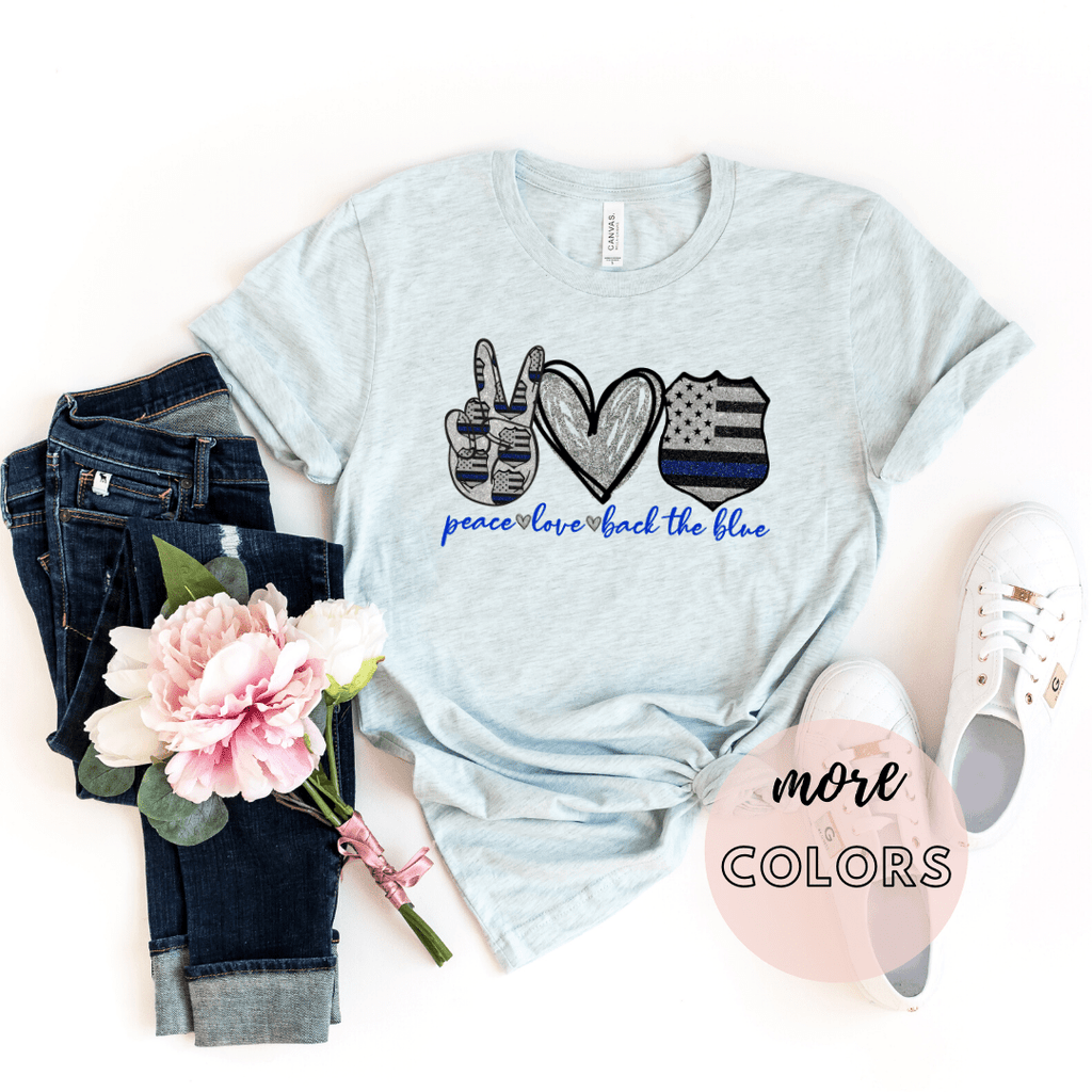 Police Wife Shirt, Policeman Shirt, Back The Blue Shirt, Blue Lives Matter - Funkyappareltees