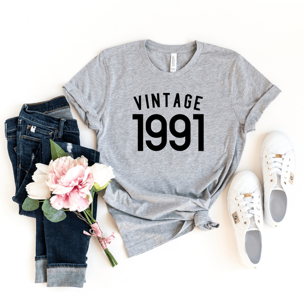 Vintage 1991 Shirt, 30th Birthday Shirt Gift For Women  Men Shirt