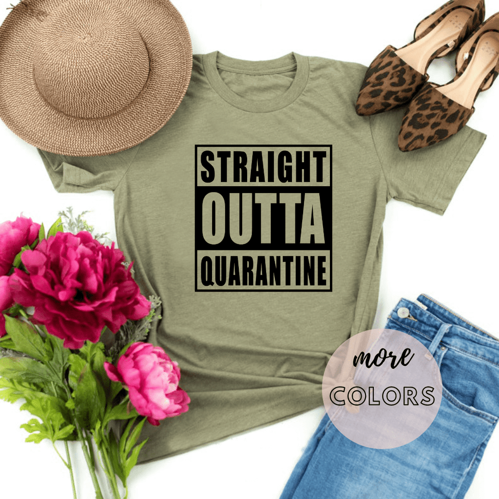 Straight Outta Quarantine Isolation, Isolated Birthday, Quarantine Shirt, Social Distancing Shirt - Funkyappareltees
