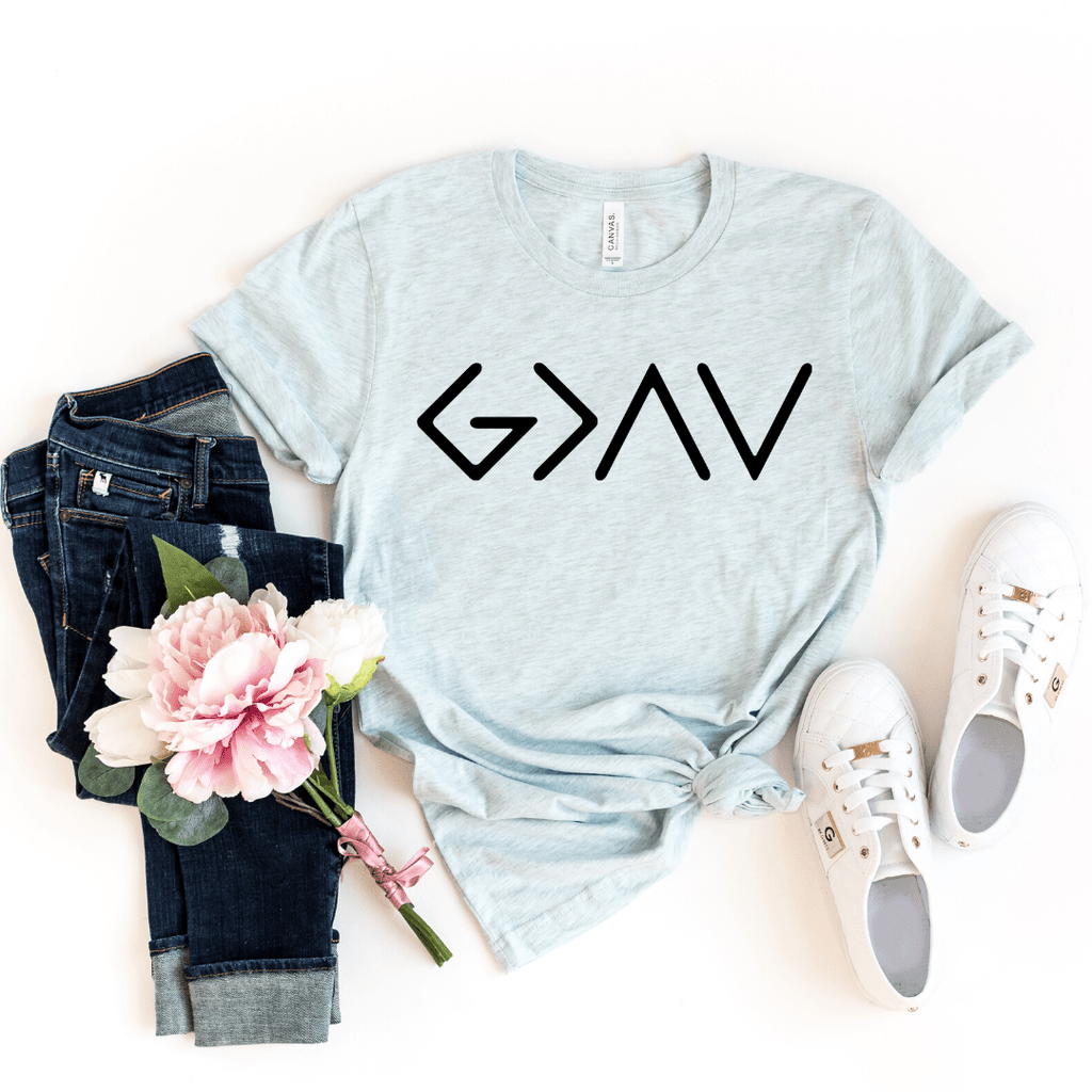 God Is Greater Than The Ups And Downs, Christianity T shirts Clothing, Christian Shirt,  Jesus T Shirts, Religious Shirts for Women, Christian T Shirts Women, Faith Shirts - Funkyappareltees