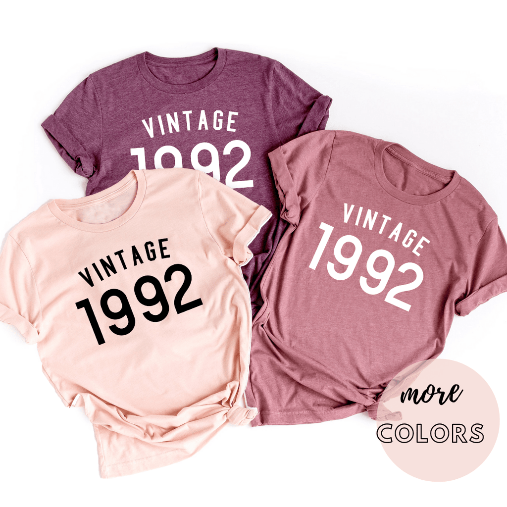 Vintage 1992 Shirt, 28th Birthday Gift For Women  Men Shirt