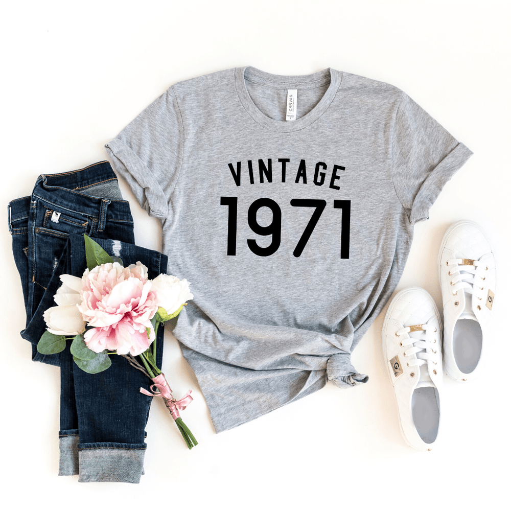 49th Birthday Shirt Ideas Vintage 1971 Birthday Shirt - Funkyappareltees