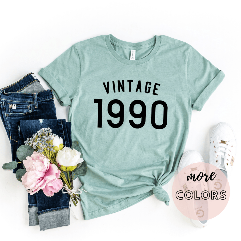 Vintage 1990 Shirt, 30th birthday gift, Dirty Thirty,  Hello Thirty, 30th Birthday Shirt Gifts, Thirtieth Birthday Tee, - Funkyappareltees
