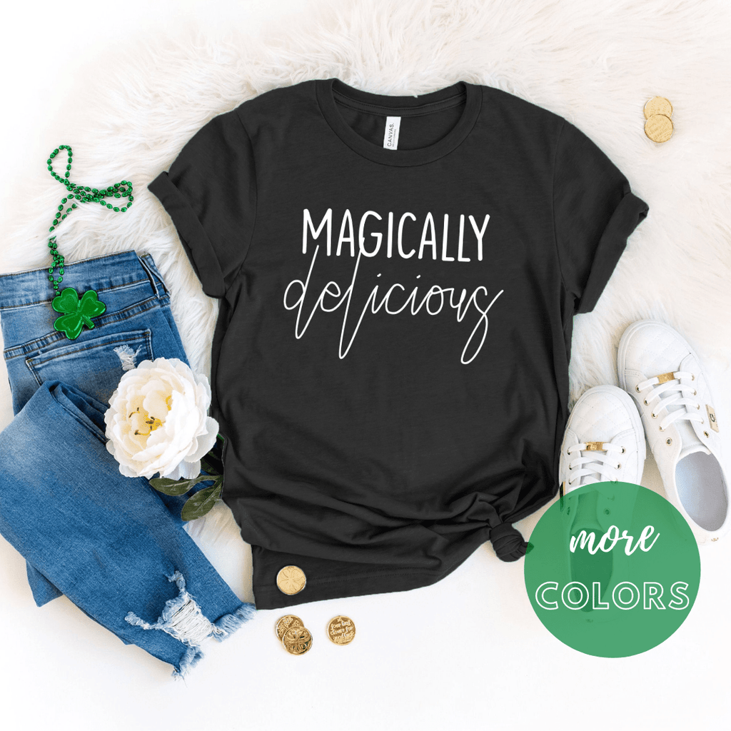 Magically Delicious St patrick day shirt, Shamrock shirt, Irish T Shirt. St Patricks Day Shirt Women - Funkyappareltees