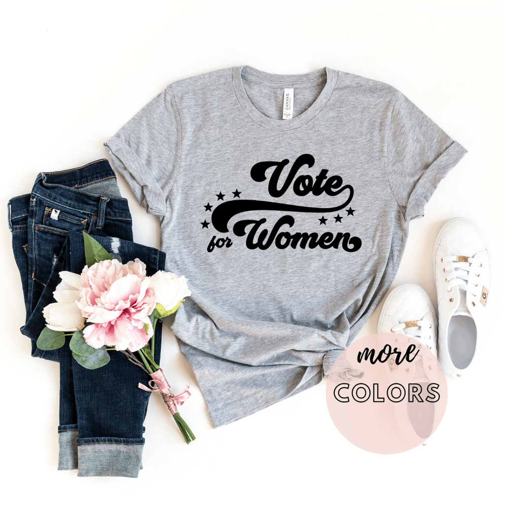 Votes For Women, Feminism Shirt, Girl Power Womens March 2020 Elections Shirt - Funkyappareltees