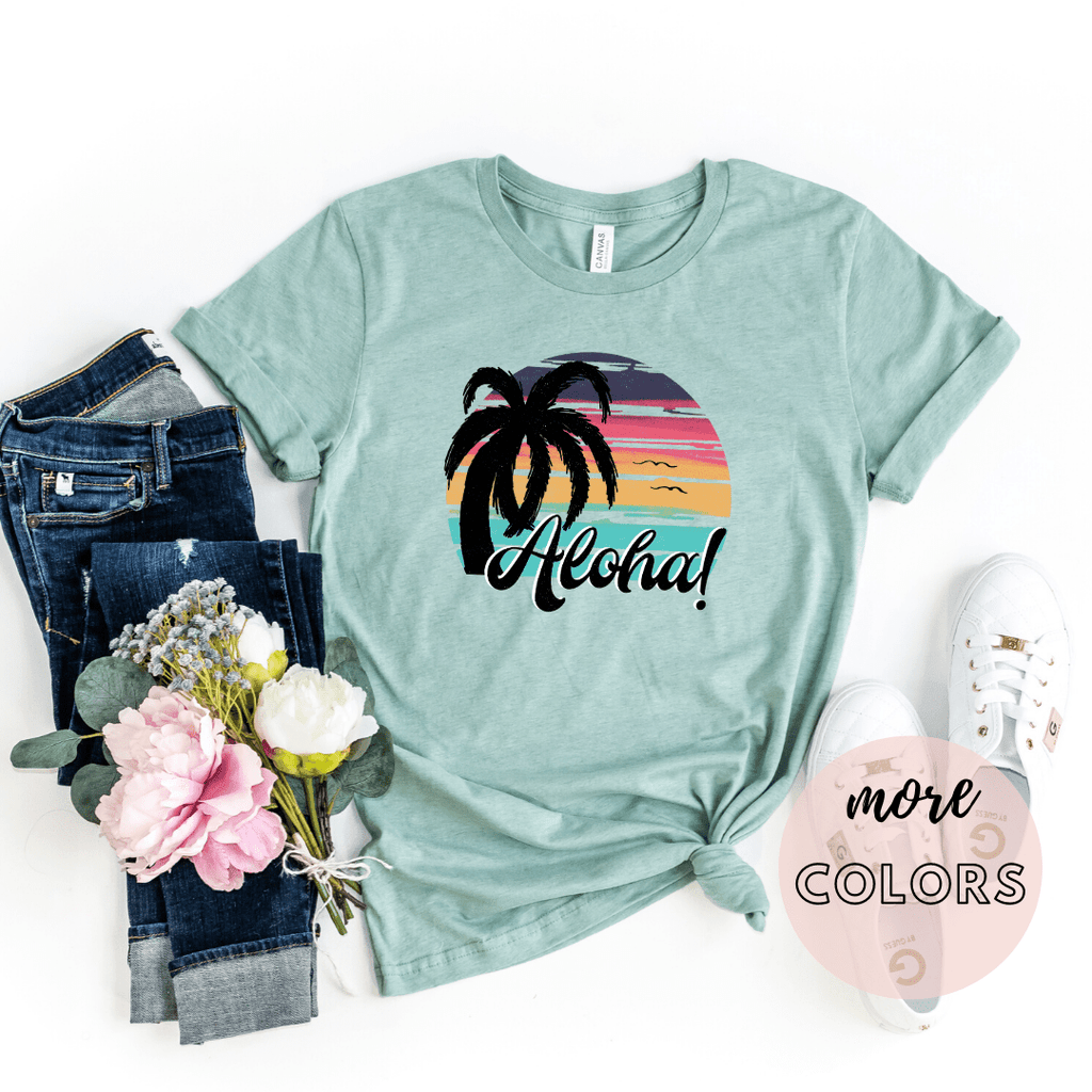 Aloha Shirt, Hawaii T Shirt, Hawaii Family Shirts, Pineapple Shirt, Sunset Shirt - Funkyappareltees