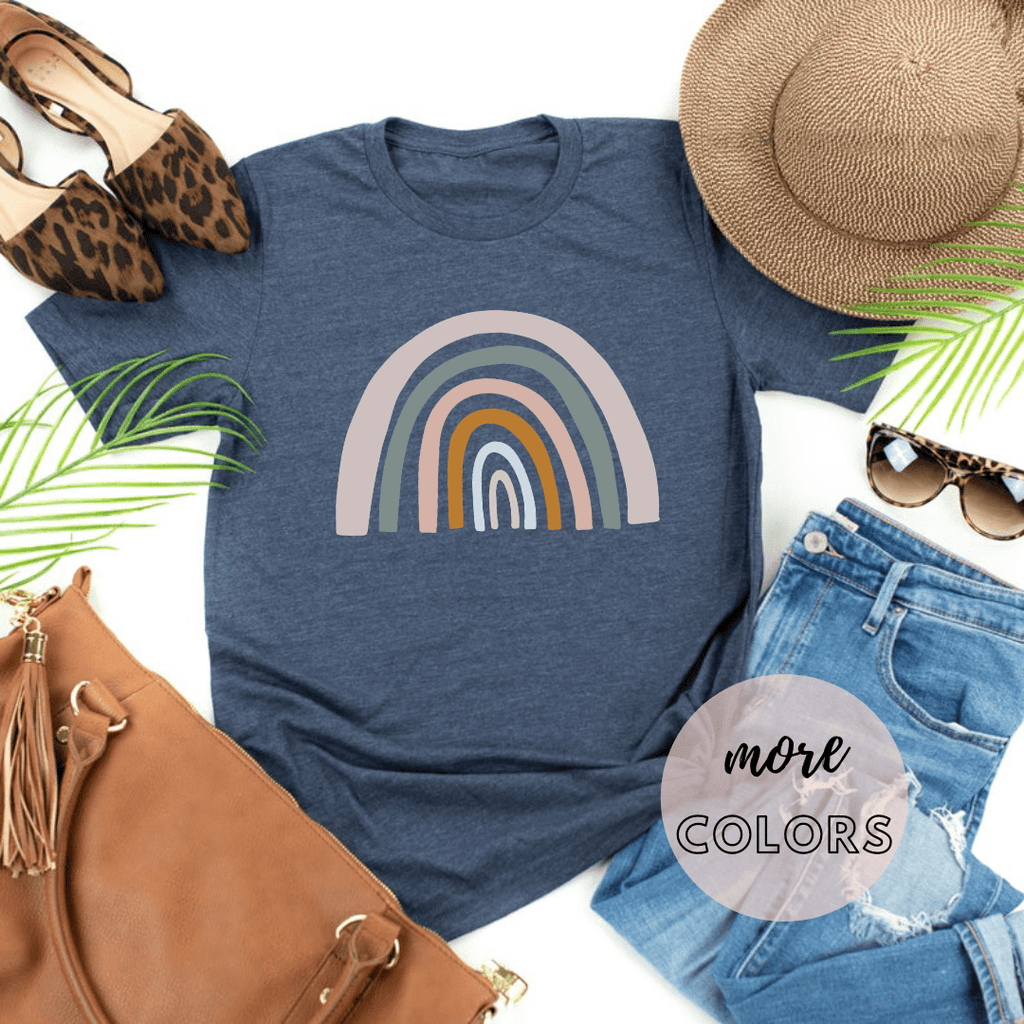 Rainbow Shirt Womens, Mothers Day Gifts Shirts,Inspirational Better Days Ahead - Funkyappareltees