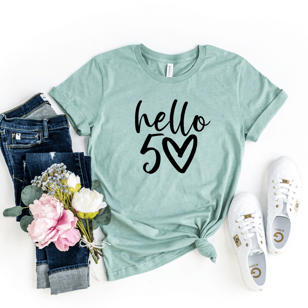 Hello 50 50th Birthday Shirt Gift