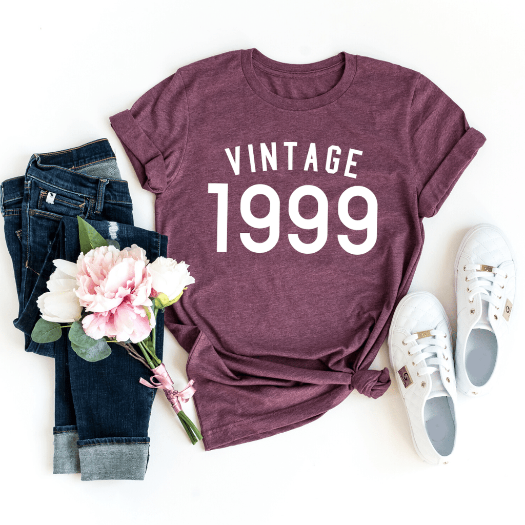 21st Birthday T Shirt Present Ideas Gifts For Her Him, Vintage 1999 T Shirt, 21st Birthday Shirt - Funkyappareltees