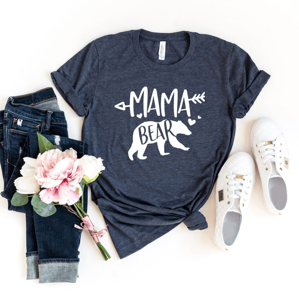 Mama Bear Shirt, mom birthday gift, Mama Shirt, mama bear t shirt, Momma bear shirt, Gift for mom - Funkyappareltees