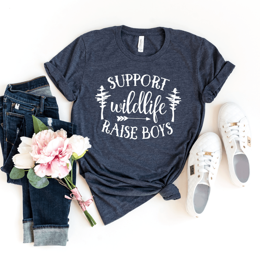 Support Wildlife Boy Mom Shirt, Mom Of Boys, Mom Life Shirts - Funkyappareltees
