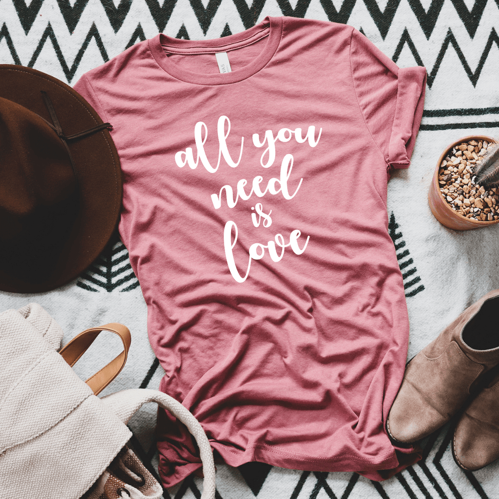 All you need is love, Valentines Day Gift Shirt, Valentines Gifts for him her girlfriend, Valentines Day
