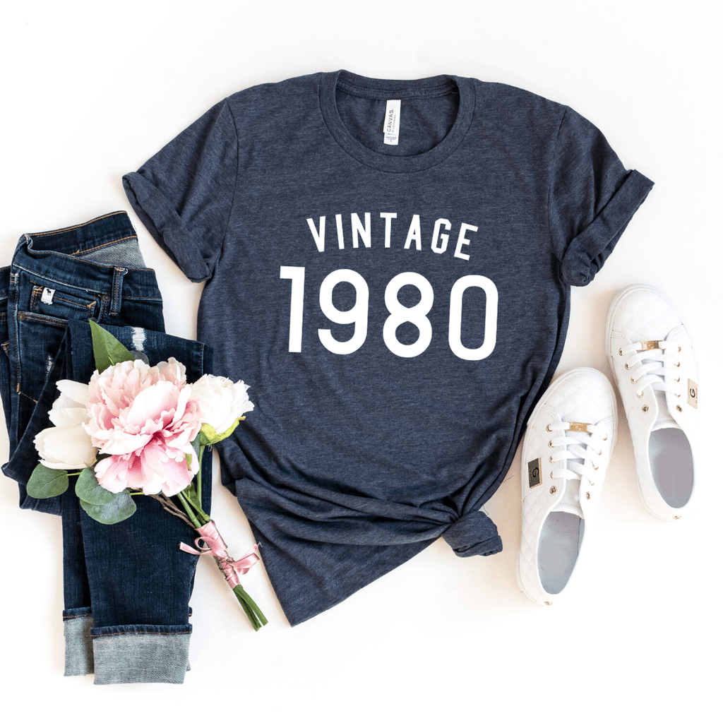 Vintage 1980 Birthday Shirt, 40th Birthday Gifts Party Ideas For Women Men Shirts For Her, Gift for man , 40th Birthday - Funkyappareltees