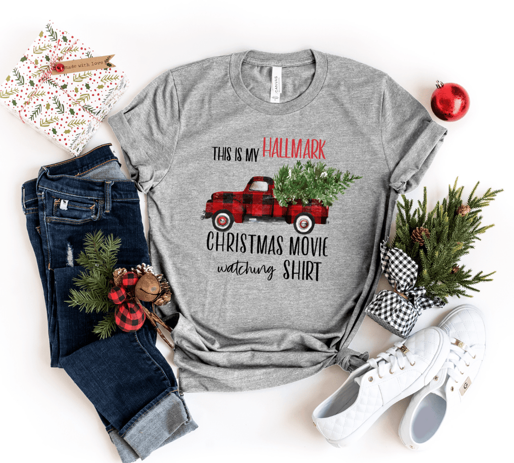 Hallmark Shirts, Hallmark Pajamas, hallmark channel christmas merchandise, christmas movie shirt, hallmark watching shirt ,Christmas Movies - Funkyappareltees