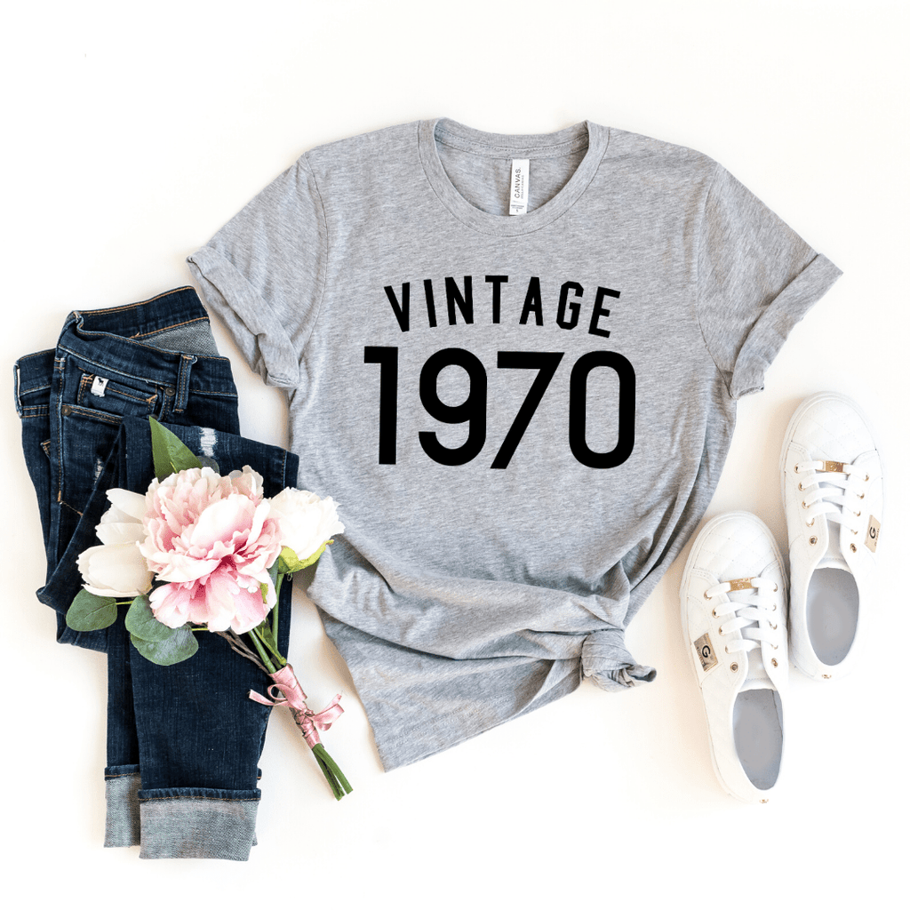50th Birthday Gift For Women  Men, 50th Birthday Shirt , Vintage 1970 T-Shirt, 50th Birthday Gift ideas - Funkyappareltees