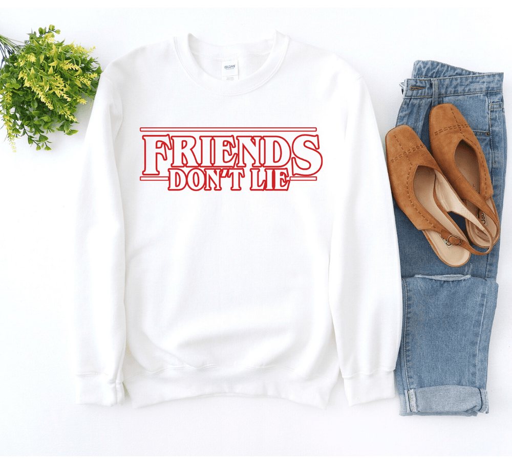 Friends Dont Lie  Christmas Sweatshirt, Stranger Things Shirt Inspired , Hawkins Shirt, The Upside Down Sweater - Funkyappareltees