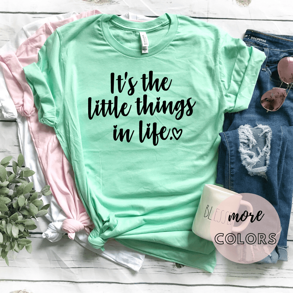 Mommy and Me Outfits T Shirts, matching outfits for baby and mommy, matching outfits mommy and me, matching shirts mommy and daughter, Its The Little Things In Life - Funkyappareltees
