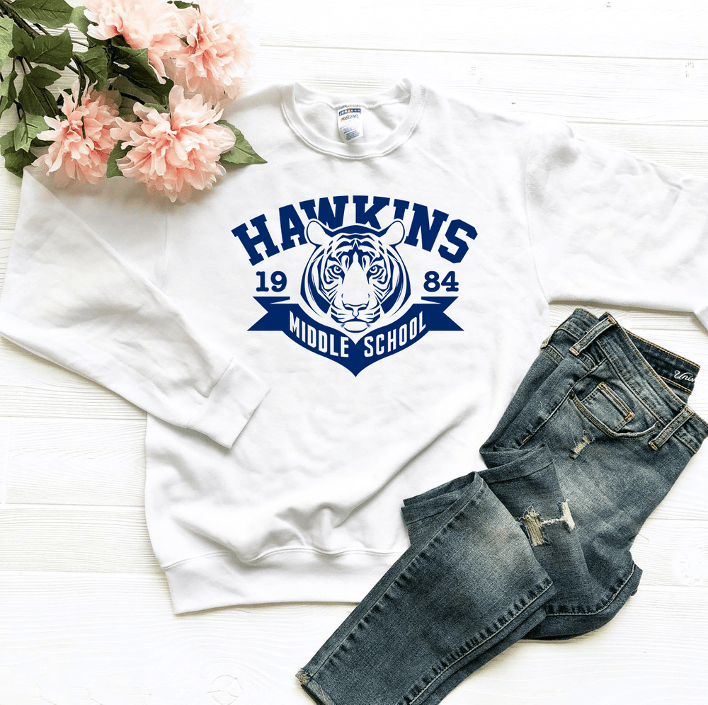 Hawkins Middle School Sweatshirt - Funkyappareltees