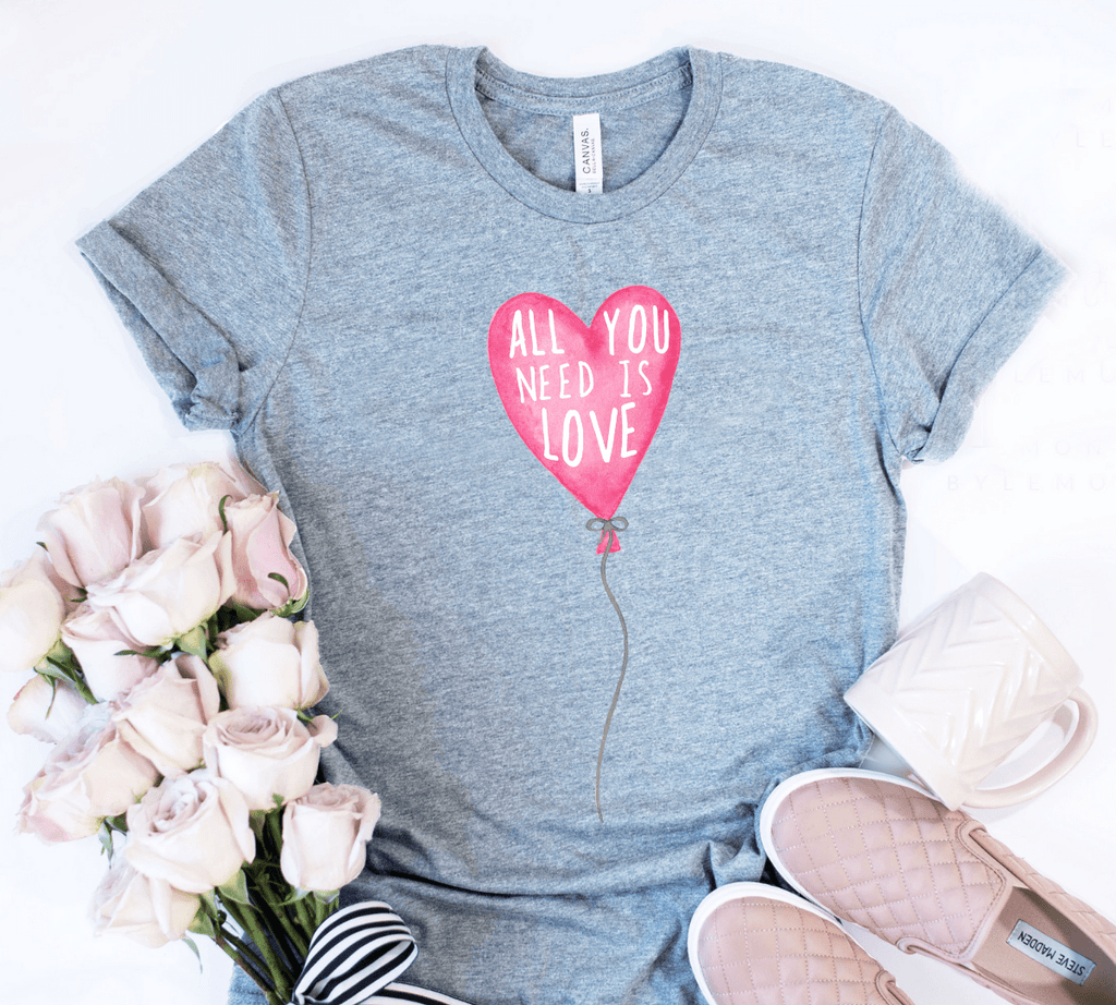 All You Need Is Love Valentines Day Shirts, Valentines Day Gift - Funkyappareltees