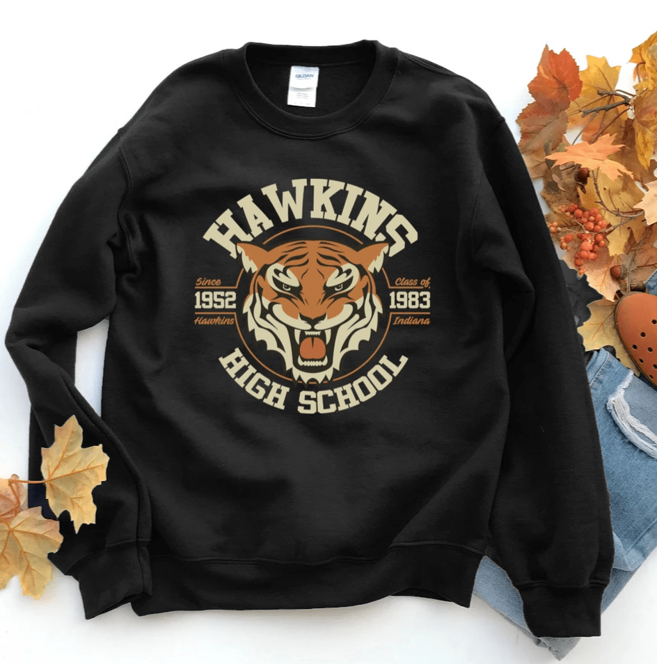 Stranger Things Shirt Inspired , Hawkins Shirt Sweatshirt, Hawkins Middle School, The Upside Down, Eleven - Funkyappareltees