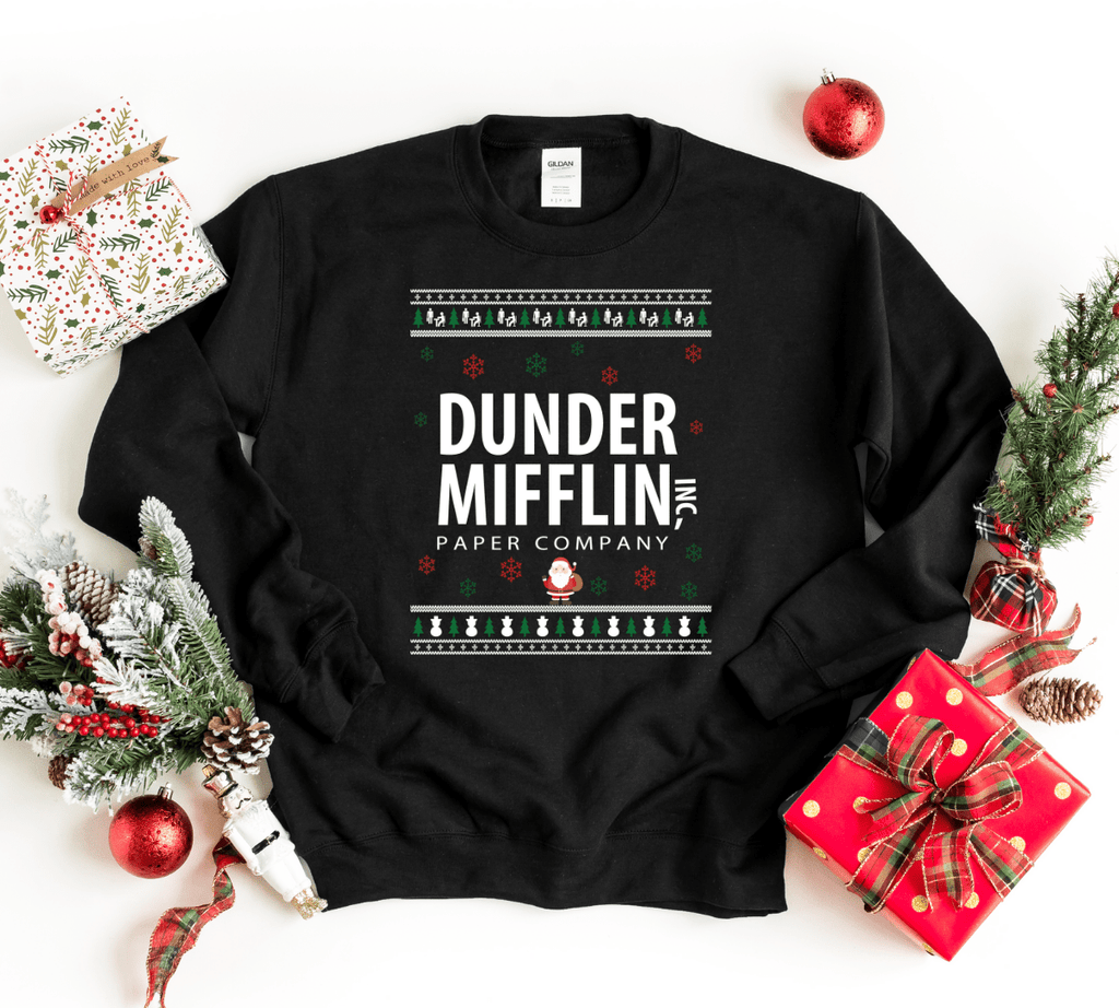 Dunder Mifflin Ugly Christmas Sweater, The Office Christmas Ugly Sweater, The Office Sweater, Christmas Sweater Sweatshirt - Funkyappareltees