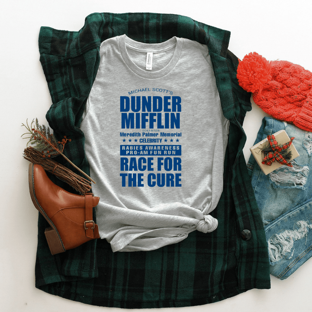 Dunder Mifflin Race For The Cure T Shirt - Funkyappareltees