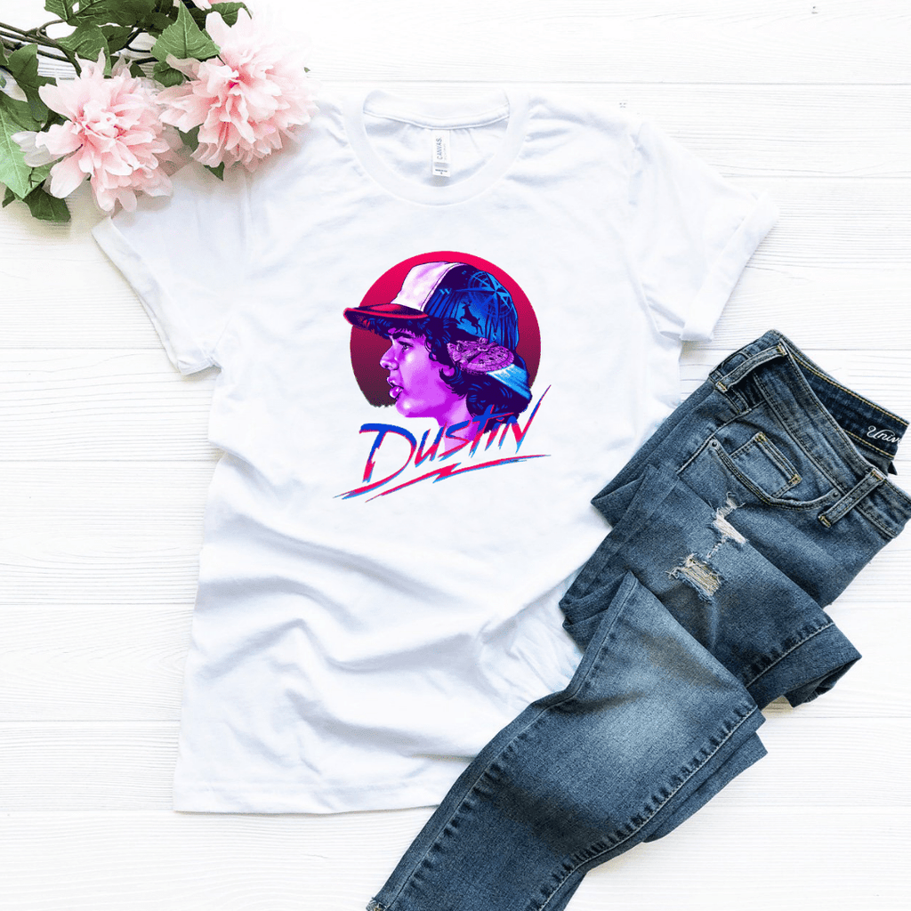 Dustin Upside Down T Shirt, Stranger Things Inspired Shirt, Eleven - Funkyappareltees