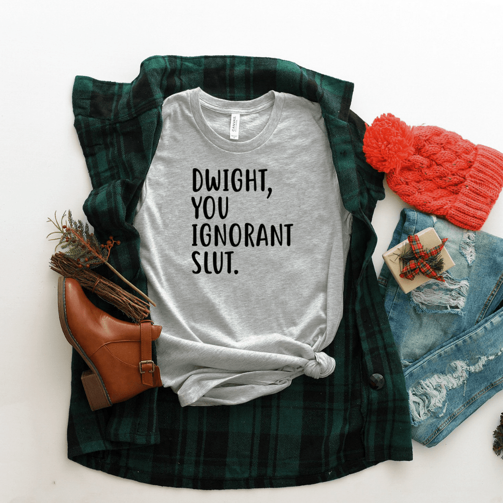 Dwight You Ignorant Slut T Shirt - Funkyappareltees