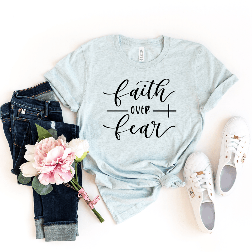 Faith Over Fear T Shirt, Christianity T shirts Clothing, Christian Shirt,  Jesus T Shirts, Religious Shirts for Women, Christian T Shirts Women, Faith Shirts - Funkyappareltees